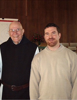 Amos at Centering Prayer Workshop with Thomas Keating in 2007